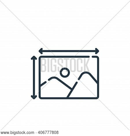 image icon isolated on white background from web development collection. image icon thin line outlin
