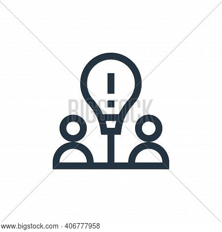 idea icon isolated on white background from job resume collection. idea icon thin line outline linea