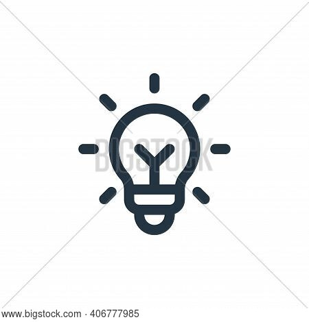 idea icon isolated on white background from user interface collection. idea icon thin line outline l