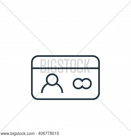 id card icon isolated on white background from user interface collection. id card icon thin line out