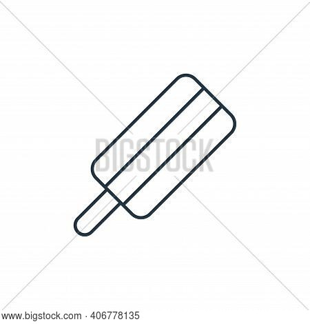 ice pop icon isolated on white background from ice pop collection. ice pop icon thin line outline li