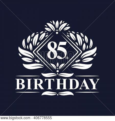 85 Years Birthday Logo, Luxury 85th Birthday Celebration.