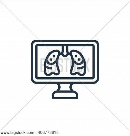 human lungs icon isolated on white background from coronavirus collection. human lungs icon thin lin