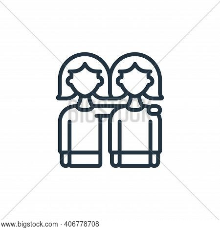 hug icon isolated on white background from womens day collection. hug icon thin line outline linear