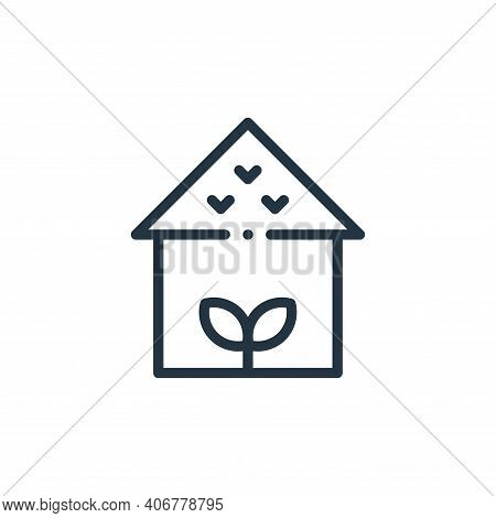 house icon isolated on white background from ecology collection. house icon thin line outline linear