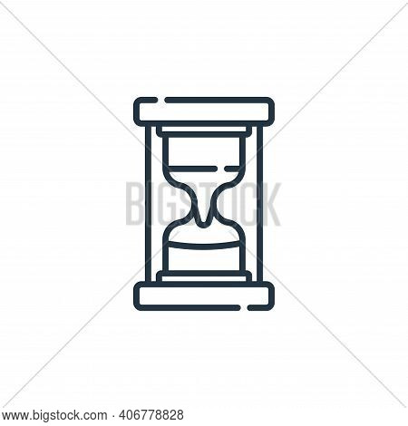hourglass icon isolated on white background from academy collection. hourglass icon thin line outlin