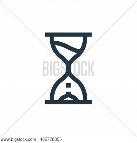 hourglass icon isolated on white background from management collection. hourglass icon thin line out