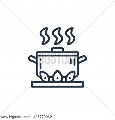 hot food icon isolated on white background from virus transmission collection. hot food icon thin li
