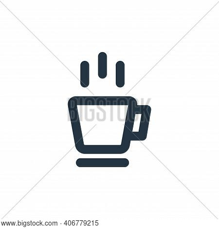 hot coffee icon isolated on white background from coffee collection. hot coffee icon thin line outli