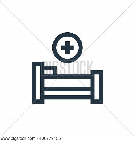 hospital bed icon isolated on white background from insurance collection. hospital bed icon thin lin