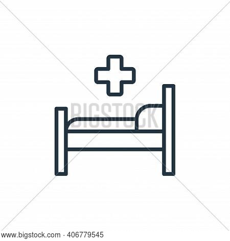 hospital bed icon isolated on white background from stop virus collection. hospital bed icon thin li