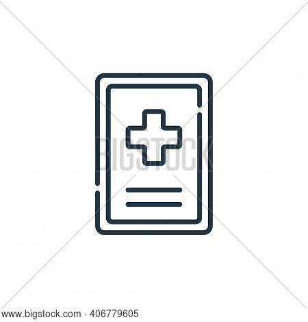 hospital icon isolated on white background from signals and prohibitions collection. hospital icon t