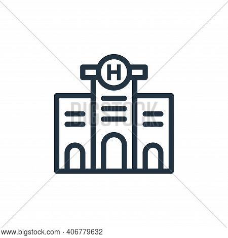hospital icon isolated on white background from coronavirus collection. hospital icon thin line outl