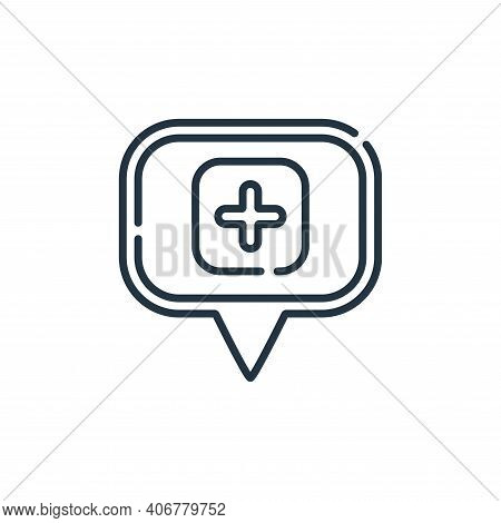 hospital icon isolated on white background from navigation and maps collection. hospital icon thin l