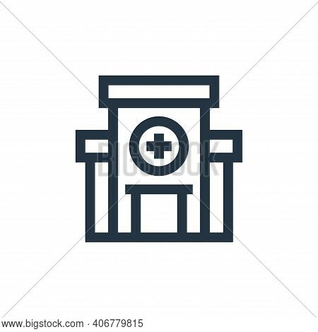hospital icon isolated on white background from charity collection. hospital icon thin line outline