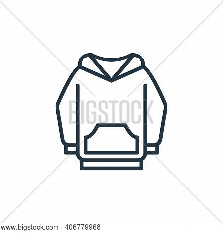 hoodie icon isolated on white background from wardrobe collection. hoodie icon thin line outline lin