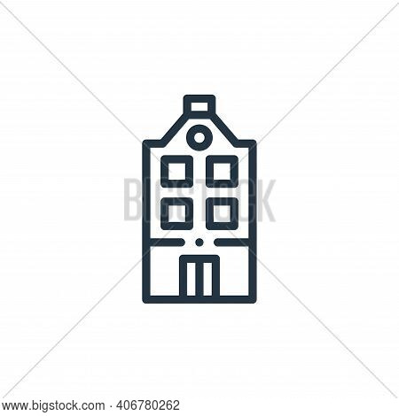 holland icon isolated on white background from holland collection. holland icon thin line outline li