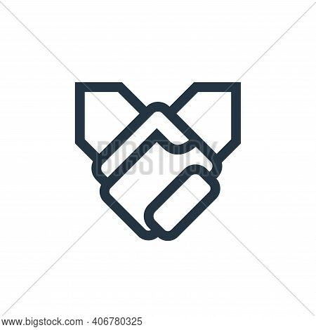Holding Hands icon isolated on white background from mental health collection. Holding Hands icon th