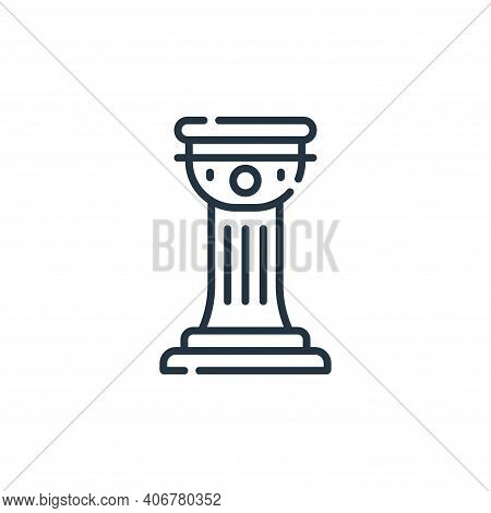 history icon isolated on white background from academy collection. history icon thin line outline li