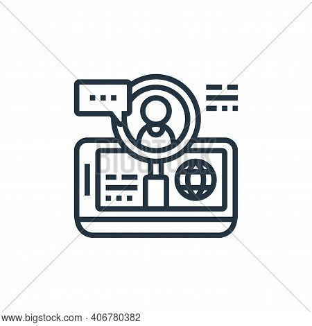 hiring icon isolated on white background from digital transformation collection. hiring icon thin li