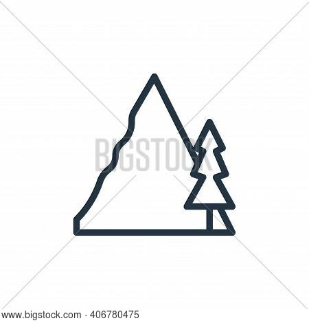 hiking icon isolated on white background from hobbies collection. hiking icon thin line outline line