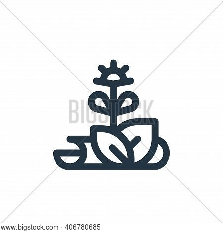 herbs icon isolated on white background from medicine collection. herbs icon thin line outline linea