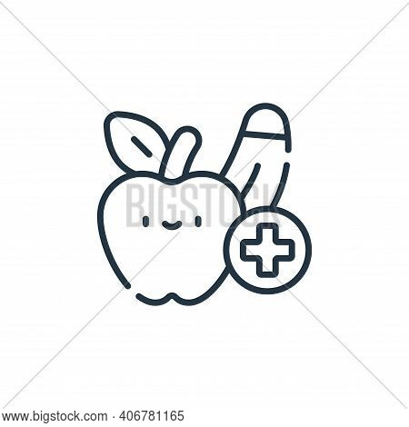 healthy food icon isolated on white background from medical services collection. healthy food icon t