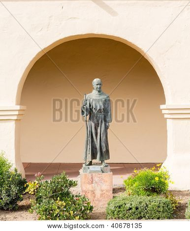 Father Junipero Serra Statue Santa Ines Mission