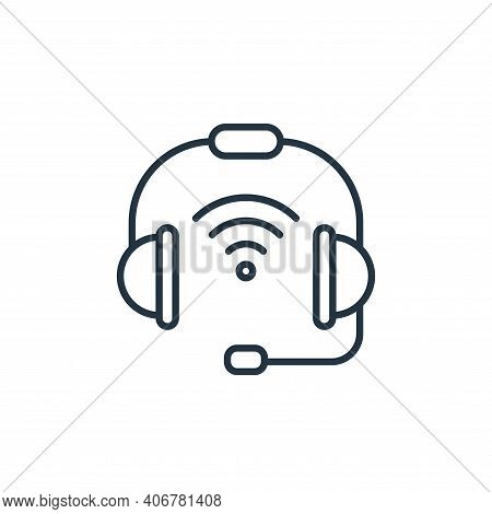headset icon isolated on white background from internet of things collection. headset icon thin line