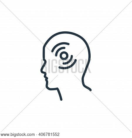 headache icon isolated on white background from stop virus collection. headache icon thin line outli