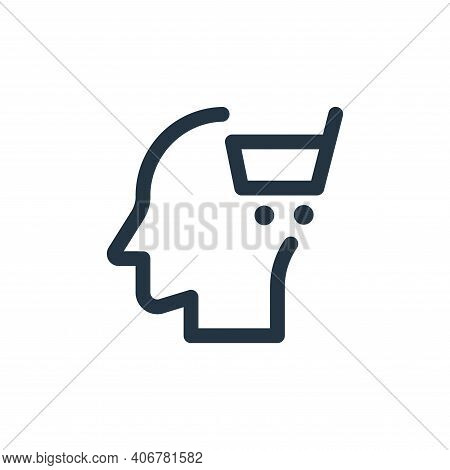 head icon isolated on white background from web apps seo collection. head icon thin line outline lin