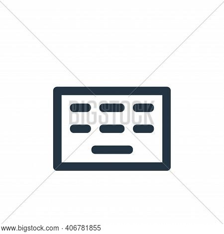 hardware icon isolated on white background from user interface collection. hardware icon thin line o