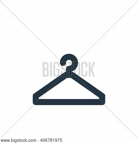 hanger icon isolated on white background from bathroom collection. hanger icon thin line outline lin