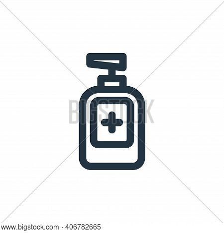 hand sanitizer icon isolated on white background from coronavirus collection. hand sanitizer icon th