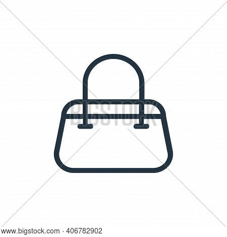 handbag icon isolated on white background from banking and finance flat icons collection. handbag ic