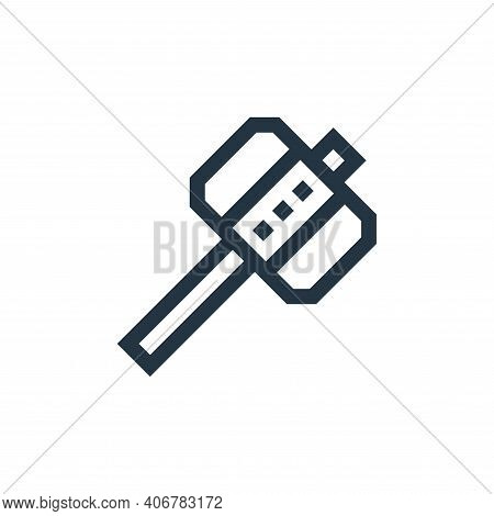 hammer icon isolated on white background from video game elements collection. hammer icon thin line
