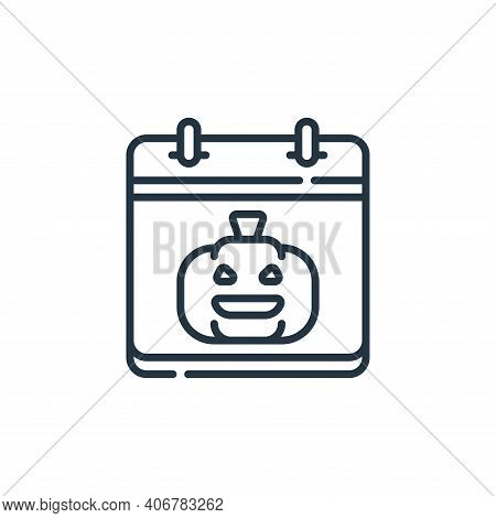 halloween icon isolated on white background from calendar and date collection. halloween icon thin l