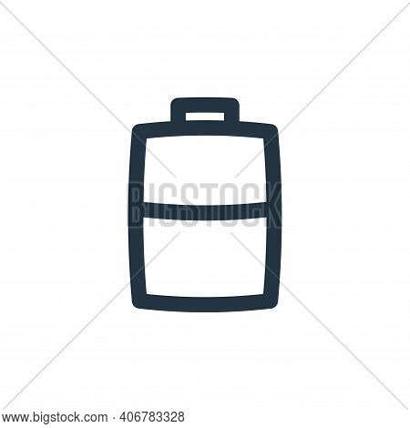 half battery icon isolated on white background from basic ui collection. half battery icon thin line