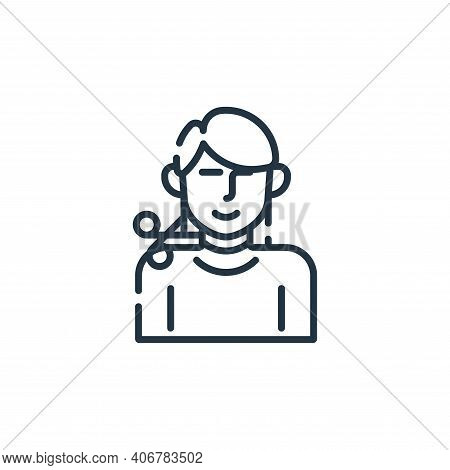haircut icon isolated on white background from hairdressing and barber shop collection. haircut icon