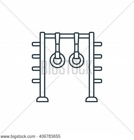 gymnastic rings icon isolated on white background from fitness collection. gymnastic rings icon thin