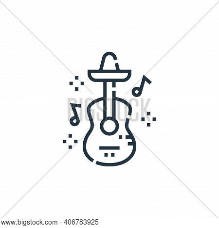 guitar icon isolated on white background from cinco de mayo collection. guitar icon thin line outlin