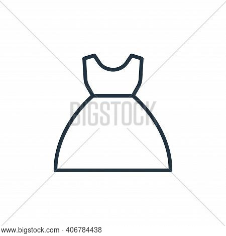gown icon isolated on white background from wardrobe collection. gown icon thin line outline linear