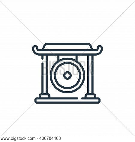 gong icon isolated on white background from music collection. gong icon thin line outline linear gon