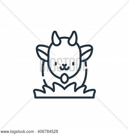 goat icon isolated on white background from animal welfare collection. goat icon thin line outline l