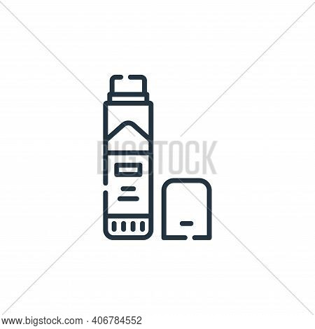 glue stick icon isolated on white background from academy collection. glue stick icon thin line outl