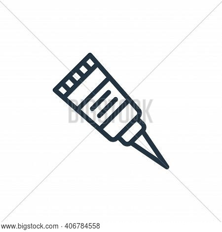 glue icon isolated on white background from school collection. glue icon thin line outline linear gl