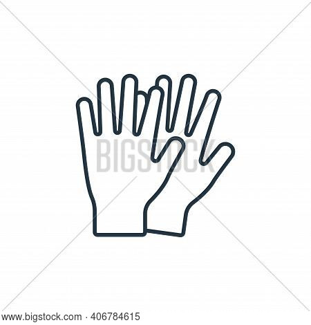 gloves icon isolated on white background from clothes and outfit collection. gloves icon thin line o