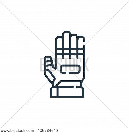 gloves icon isolated on white background from auto racing collection. gloves icon thin line outline