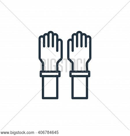 glove icon isolated on white background from virus collection. glove icon thin line outline linear g