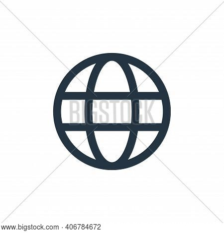 globe icon isolated on white background from user interface collection. globe icon thin line outline